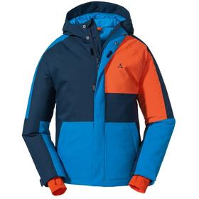 Schöffel Brandnertal Skijakke Drenge, blå/orange